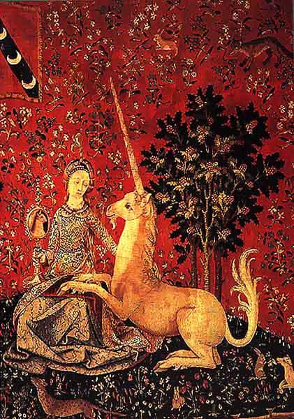 La dame la licorne s rie de 6 tapisseries - Tapisserie dame a la licorne ...